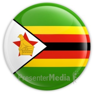 ID# 13456 - Zimbabwe Button - Presentation Clipart