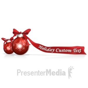 ID# 13464 - Ornaments And Bows Custom - Presentation Clipart