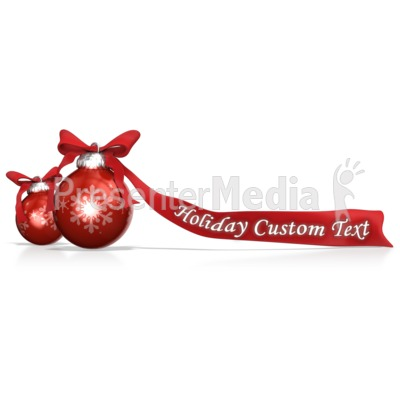 Ornaments And Bows Custom PowerPoint Clip Art