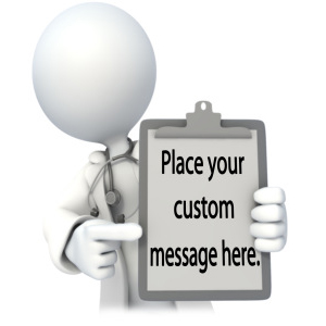 ID# 13472 - Doctor or Nurse With Custom Chart - Presentation Clipart