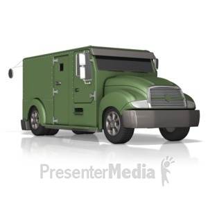 ID# 13478 - Armored Truck - Presentation Clipart