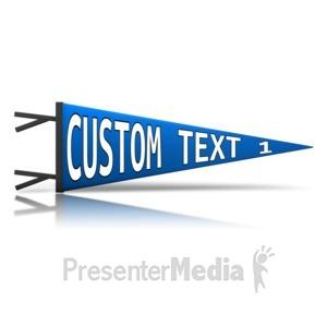 ID# 13482 - Custom Pennant - Presentation Clipart