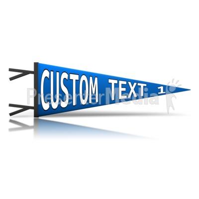 Custom Pennant PowerPoint Clip Art