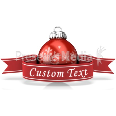 Ornament With Custom Banner PowerPoint Clip Art