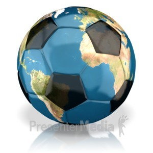 ID# 13500 - World Soccer Ball - Presentation Clipart