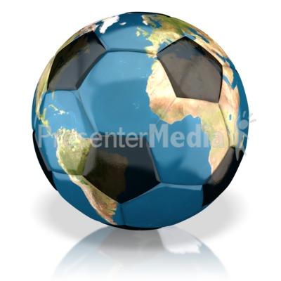 World Soccer Ball PowerPoint Clip Art