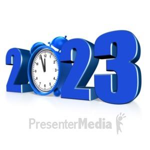 ID# 13510 - Custom Year Alarm Clock - Presentation Clipart