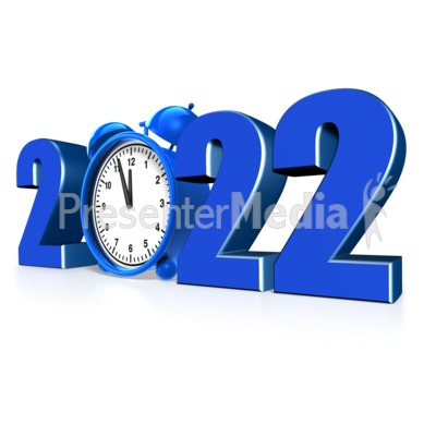 Custom Year Alarm Clock PowerPoint Clip Art