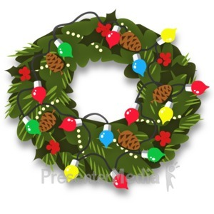 ID# 13527 - Christmas Wreath Decor - Presentation Clipart