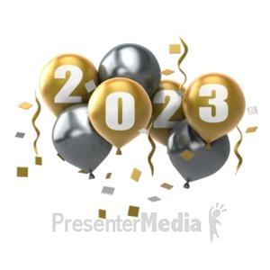 ID# 13535 - Custom Year Balloons - Presentation Clipart