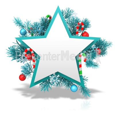Festive Christmas Star PowerPoint Clip Art