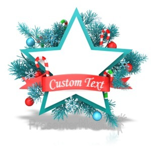 ID# 13543 - Christmas Star Banner - Presentation Clipart