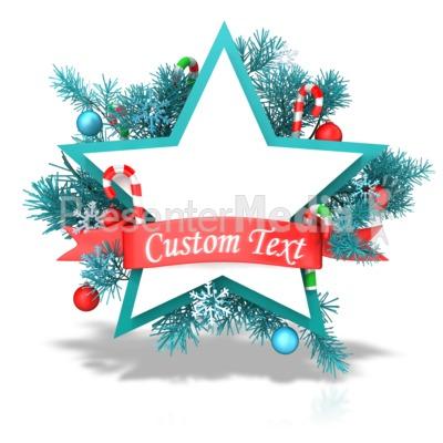 Christmas Star Banner PowerPoint Clip Art