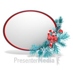 ID# 13548 - Festive Christmas Sphere - Presentation Clipart