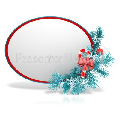 Festive Christmas Sphere PowerPoint Clip Art