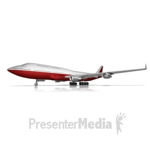 ID# 13550 - Airliner On Ground - Presentation Clipart