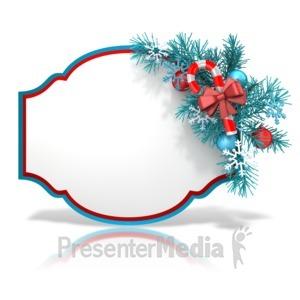 ID# 13555 - Festive Christmas Shape - Presentation Clipart