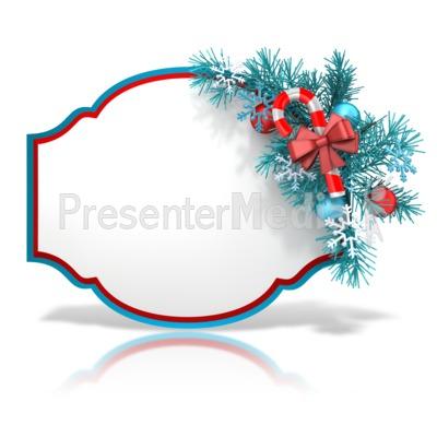 Festive Christmas Shape PowerPoint Clip Art