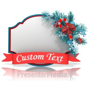 ID# 13558 - Christmas Shape Banner - Presentation Clipart