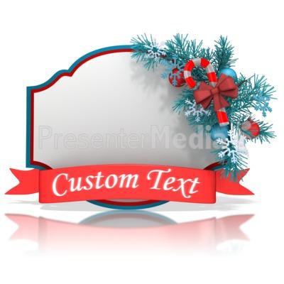 Christmas Shape Banner PowerPoint Clip Art