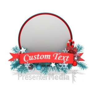 ID# 13572 - Festive Christmas Circle Banner - Presentation Clipart