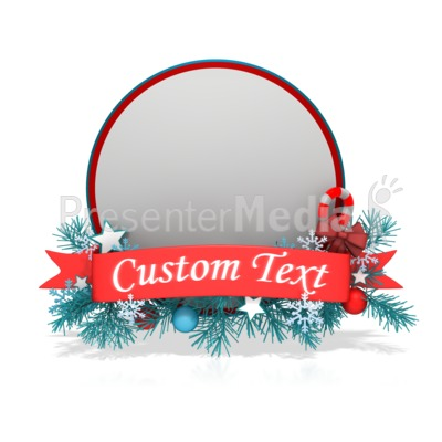 Festive Christmas Circle Banner PowerPoint Clip Art