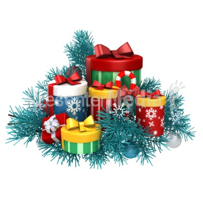 Gifts Christmas Pine PowerPoint Clip Art