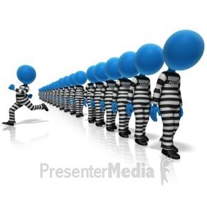 ID# 13576 - Prisoner Breakaway - Presentation Clipart