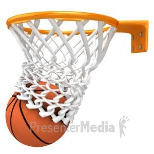 ID# 13584 - Basketball Score - Presentation Clipart