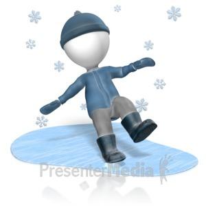 ID# 13607 - Figure Slip Ice - Presentation Clipart