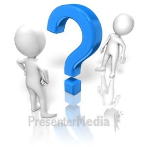 ID# 13608 - Question Between Figures - Presentation Clipart