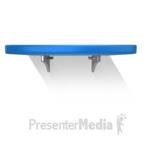 ID# 13618 - Single Shelf Wall - Presentation Clipart