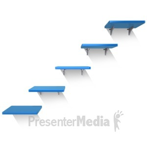 ID# 13619 - Five Shelves Wall - Presentation Clipart