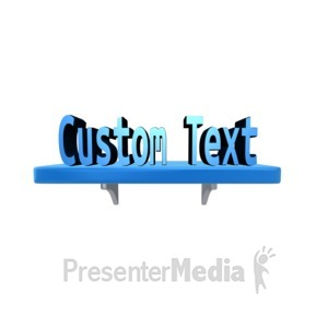 ID# 13626 - Custom Text On A Shelf - Presentation Clipart