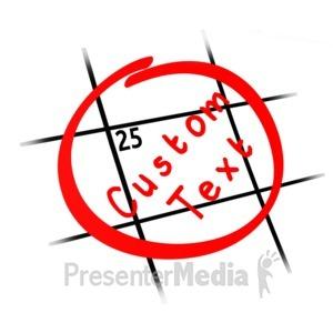 ID# 13635 - Custom Date Calendar - Presentation Clipart