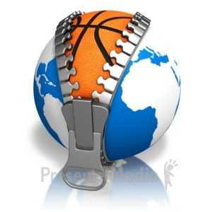 ID# 13639 - Earth Basketball Reveal - Presentation Clipart