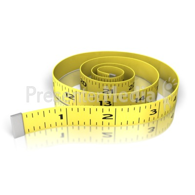 Waist Exercise Tape Measure PowerPoint Clip Art