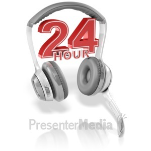 ID# 13644 - 24 Hour Headset - Presentation Clipart