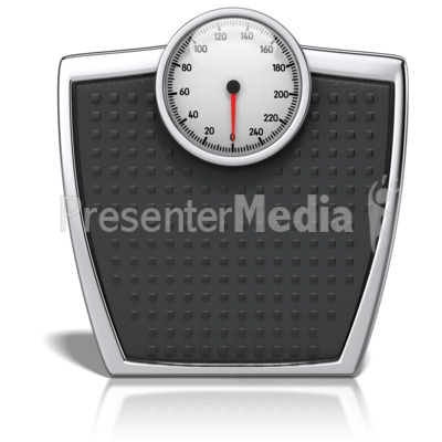 Bathroom Scale With Numbers PowerPoint Clip Art