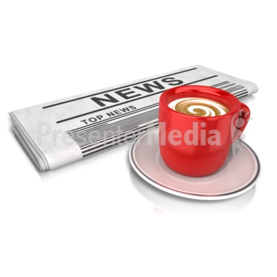 Coffee And News PowerPoint Clip Art