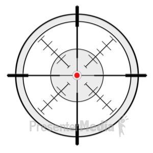 ID# 13691 - Crosshairs - Presentation Clipart