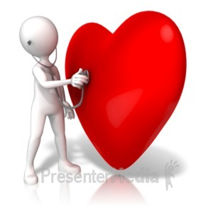 ID# 13716 - Listening To Large Heart - Presentation Clipart