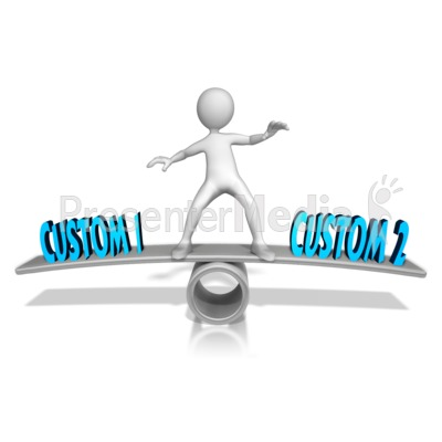Custom Figure Balance PowerPoint Clip Art