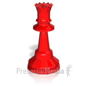 ID# 13747 - Queen Chess Piece - Presentation Clipart