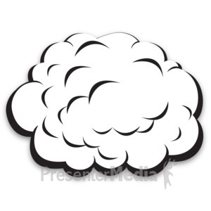 ID# 13754 - Single Plain Cloud - Presentation Clipart