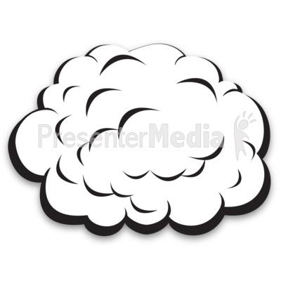 Single Plain Cloud PowerPoint Clip Art