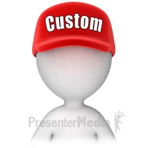 ID# 13758 - Figure with Custom Text Hat - Presentation Clipart