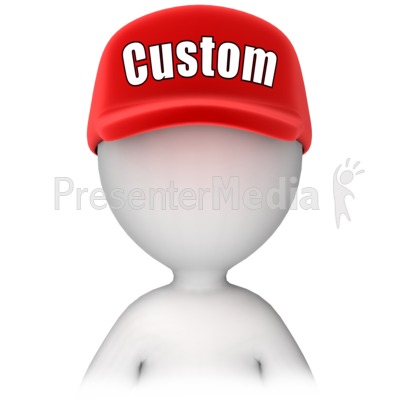 Figure with Custom Text Hat PowerPoint Clip Art