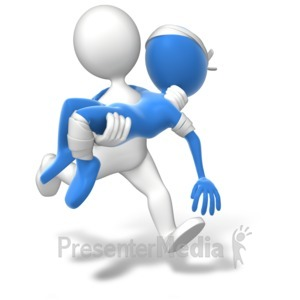 ID# 13775 - Running Carry Injury - Presentation Clipart