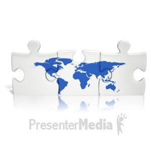 ID# 13790 - Puzzle Pieces World - Presentation Clipart